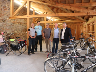 Fietsenberging site Ter Potterie geopend